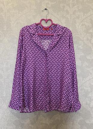 Нежнейшая шелковая рубашка блуза бренда hugo boss. размер s.