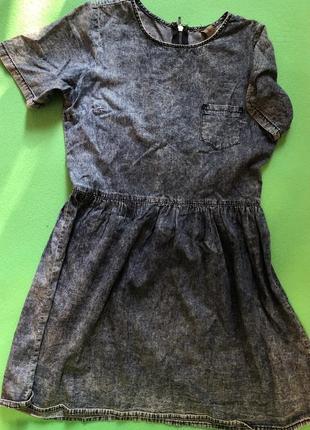 Джинсовое свободное платье