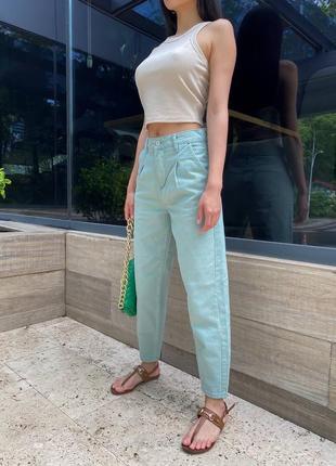 Мятные джинсы слоучи