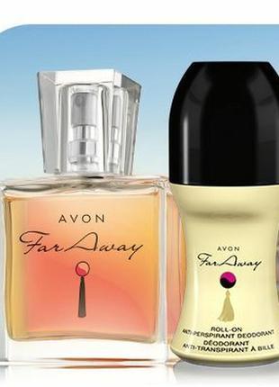 Набор парфюмерный avon far away для женщин.