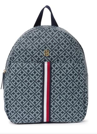Рюкзак tommy hilfiger в логотип голубой, оригинал