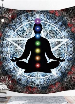 Картина текстильная гобелен настенный йога-4