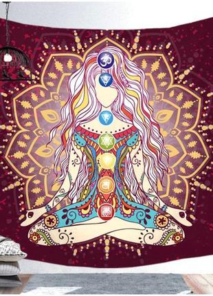 Картина текстильная гобелен настенный йога-5