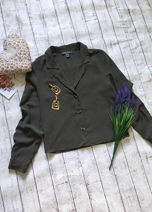 Блуза хаки на пуговках