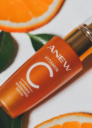 Осветляющая и омолаживающая сыворотка для лица с 10% витамином с  avon anew vitamin c radiance maximizing serum