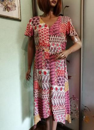 Вискозное платье f&f casual