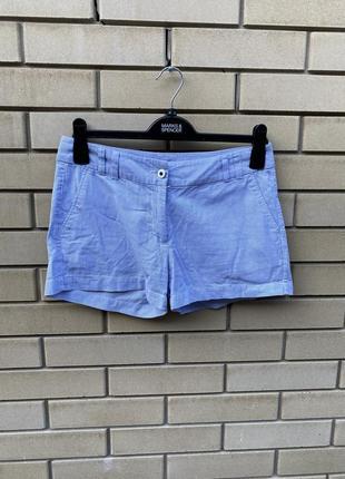 Легкие хлопковые шорты в полоску ostin