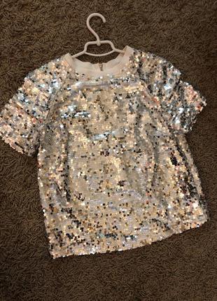 Шикарна нарядна блуза роз 34-36🔥🔥🔥next