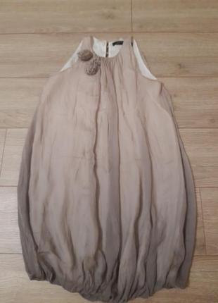Шелковое платье, сарафан бохо, балон, шелк
