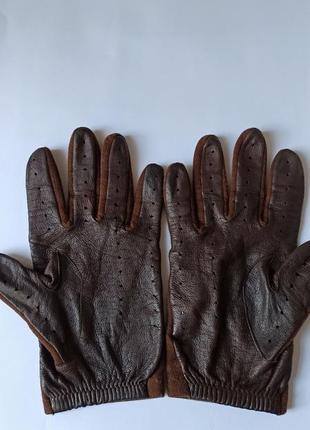 Перчатки текстиль/кожа damart англия
