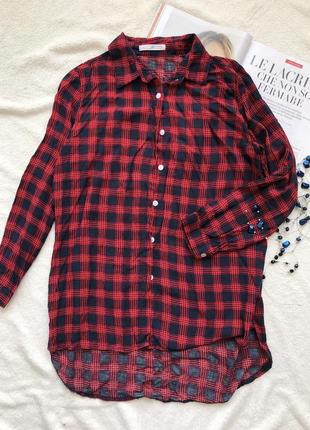 Красная рубашка в клетку gong