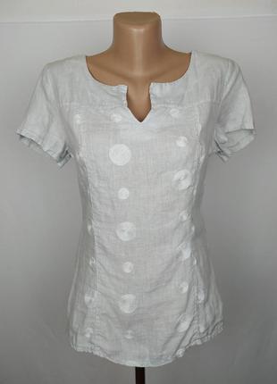 Блуза льняная стильная итальянская s
