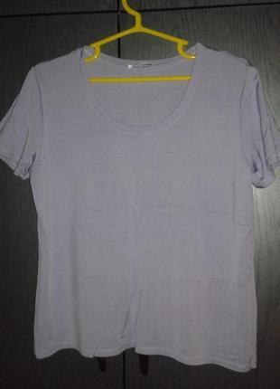 Легкая футболка нежного сиреневого цвета artigiano,италия, размер 16/44/xxl.