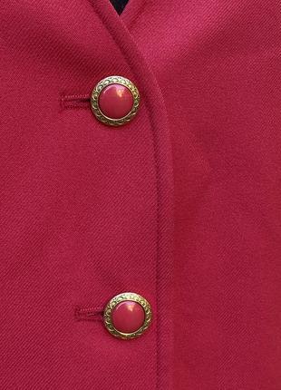Винтажный малиновый пиджак7 фото