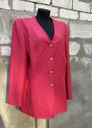 Винтажный малиновый пиджак2 фото