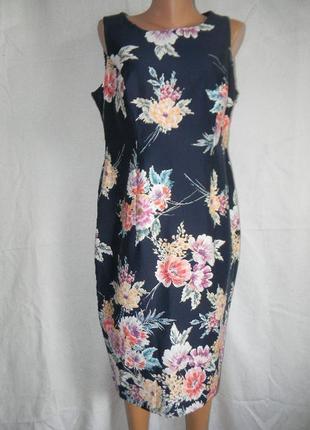 Новое натуральное платье с цветочным принтом george