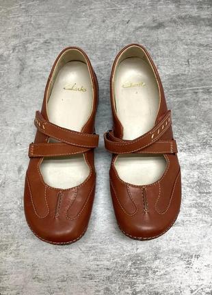 Фирменные босоножки сандали от clarks кожа