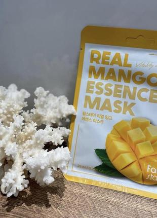 Real mango essence mask farmstay тканевая маска с манго