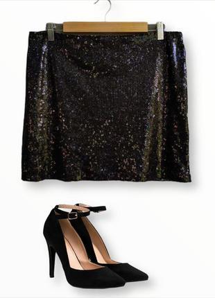 Стильная юбка в пайетки primark