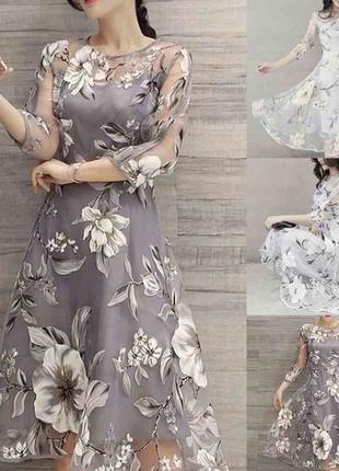 Роскошное платье из органзы yuki размер м/л
