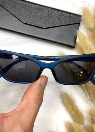 Трендовые солнцезащитные очки лисички 🖤💙