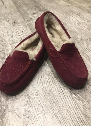 Фирменные ugg мокасины туфли с мехом овчины