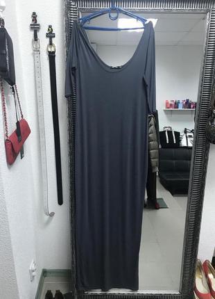 Темно-серое макси-платье boohoo
