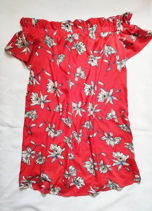 Легкое платье туника цветное открытые плечи 42 atmosphere