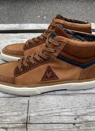 Оригинал кожаные кеды le coq sportif ботинки