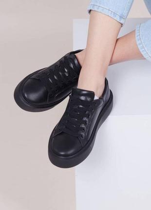Женские кроссовки из натуральной кожи кеды кожаные 37 38 39 40 41
