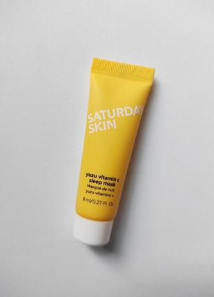 Ночная маска saturday skin yuzu vitamin c sleep mask