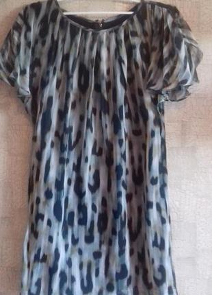 Шикарное шелковое платье от mango suit размера s.