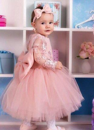 501dd6d9a96 Нарядные платья в пудровом цвете на годик мама+дочка