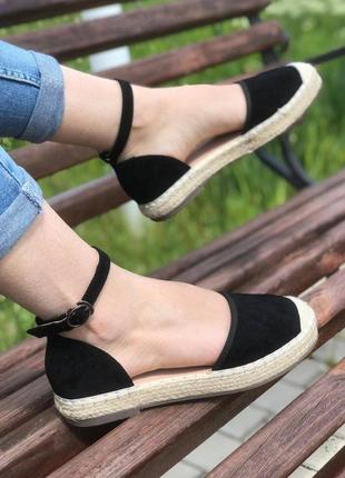 Босоножки плетенка 🌿 эспадрильи низкая платформа сланцы сандалии сабо