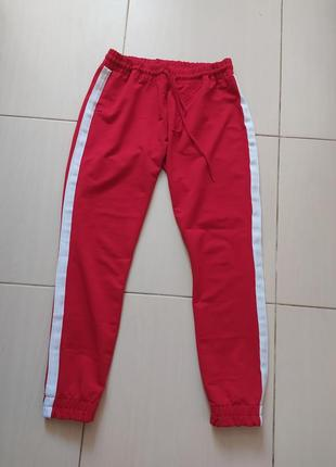 Спортивные штаны/ штаны с лампасами/ яркие штаны/ спорт/ для спорта/ штаны на манжетах