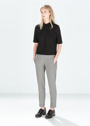 Элегантные брюки штаны чиносы принт гусиная лапка