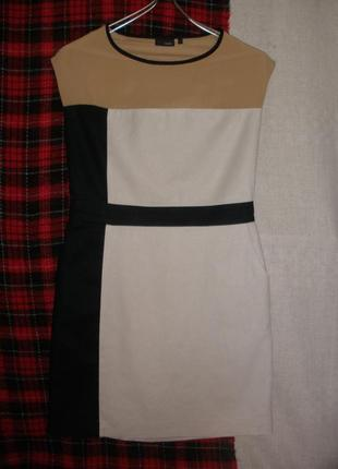 Лаконичное платье футляр лён хлопок с карманами next на подкладке