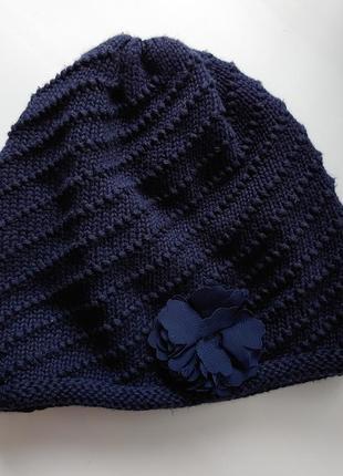 Синяя демисезонная шапка ovs