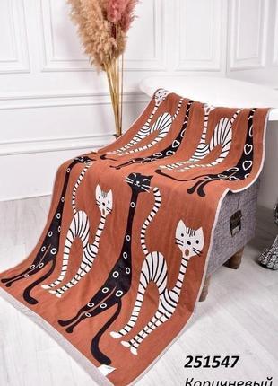 Банное полотенце рисунок двусторонний коттон