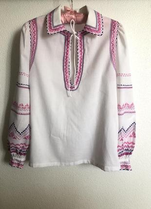 Люксовая блузка вышиванка louis feraud 42 s-m