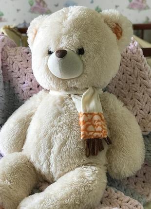 Іграшковий ведмедик, бежево-персикового кольору 🥰