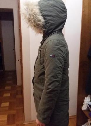 Тёплая зимняя парка tommy hilfiger  (новая!)