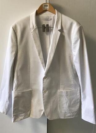 Классически пиджак белого цвета calvin klein