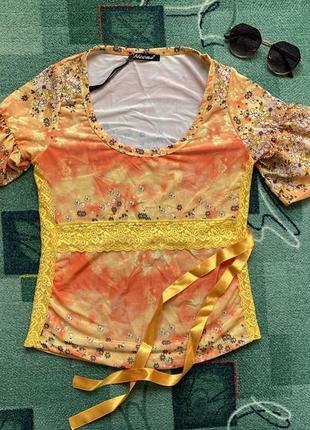 Блуза разноцветная