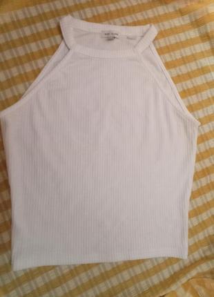 Белый базовый топ майка топик2 фото