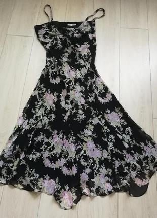 Платье вечернее фирменное laura ashley, р. 16