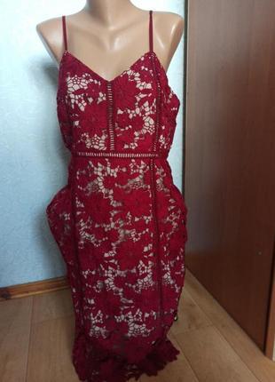 Платье кружевное вечернее шикарное сукня мереживна