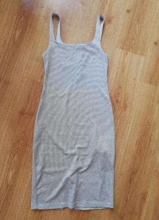 Платье миди в полосочку