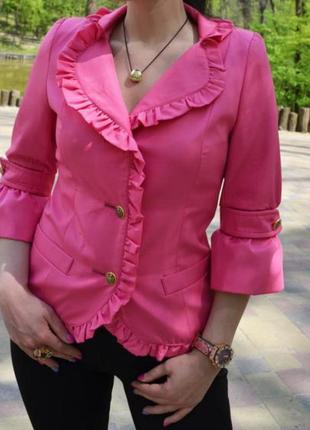 Розовый фуксия пиджак жакет блейзер dolce gabanna оригинал