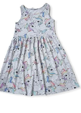 Платье трикотаж h&m на 6-8 лет